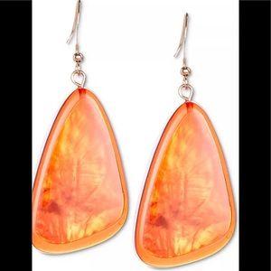 Style & Co Resin Triangular Earrings tangerine